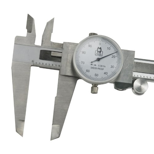 8 Inch Imperial Dial Caliper - Moore and Wright 143 Series