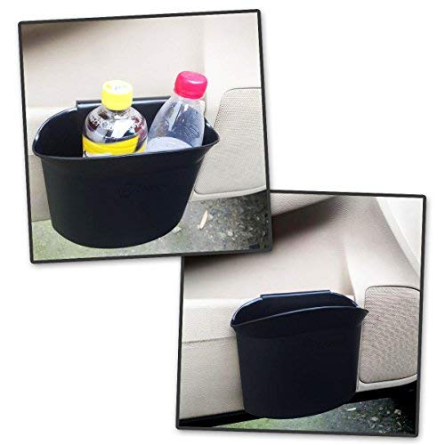 Classic Black Premium Quality Black Universal Traveling Portable Car Trash Can Zone Tech 2-Pack Portable Hanging Mini Car Garbage Can