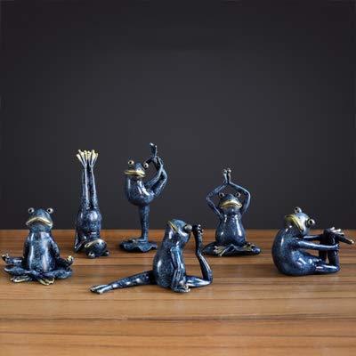HuXWEi Figuras de Ranas de Yoga Estadounidense Resina ...