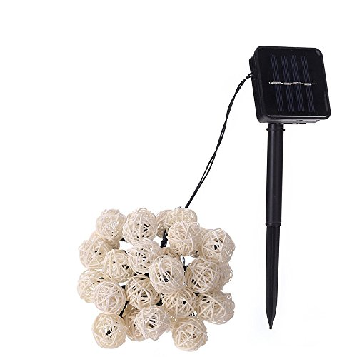 FuriGer Solar string Lights Outdoor Decorative, Ideal Gift Color Changing Solar Powered Glass Ball 30Led Garden Light Outdoor Waterproof Solar Night Light Table Lamps for Indoor Outdoor Decorations by FuriGer