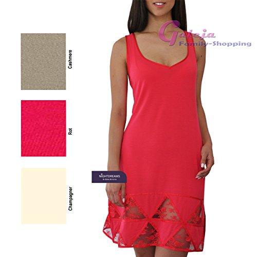 Damen Luxus Nachthemd Nightdreams 95% Micro Modal Spitze Cashmere/Cashmere Gr. 36/38 Sleepshirt Nachtwäsche