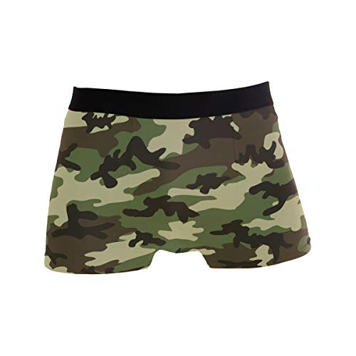 - LONK Military Camouflage Woodland Style Men's Boxer Briefs Underwear Comfortable Underpants