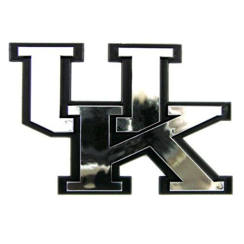 (Kentucky Wildcats UK NCAA Chrome 3D for Auto Car Truck Emblem Decal Sticker College Officially Licensed Team Logo)