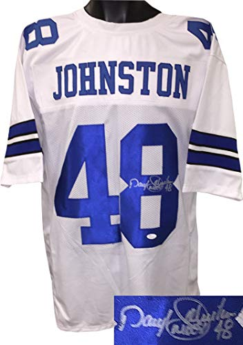 52b8de039 Image Unavailable. Image not available for. Color  Daryl Johnston  Autographed White ...