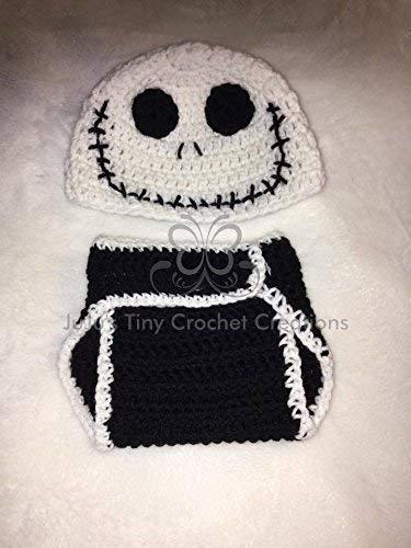 Crocheted Handmade Baby Newborn Skeleton Outfit - Halloween Costume - Baby Shower Gift - Photo Prop - Halloween - Baby -