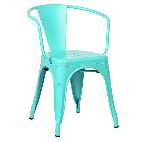 Aqua Chair - Poly and Bark Trattoria Arm Chair in Aqua