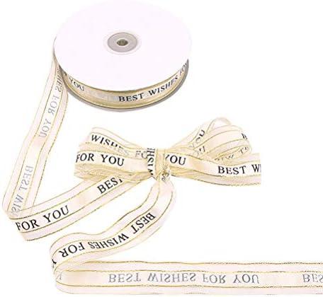 Healifty ギフト用の包みリボンホリデーウェディングデコレーションプレゼントに最適なリボンプレゼントプレゼントお土産工芸品2.5cm