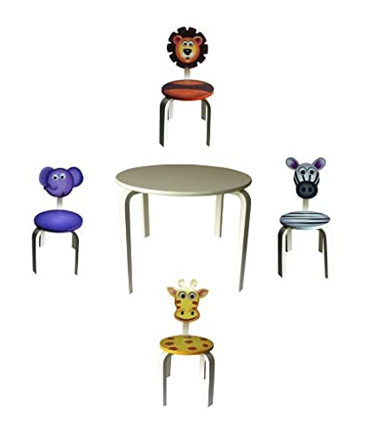 Charmant Amazon.com: Inskeppa Safari Collection Kidu0027s Zebra Wood Chair. Cute Design  And Functional Chair For Any Room: Kitchen U0026 Dining