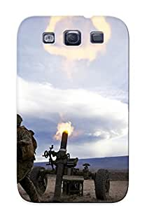 Defender Case For Galaxy S3, Mortar Soldiers Blast Weapons Guns Explosion Fire Warriors Soldiers Bale War Pattern