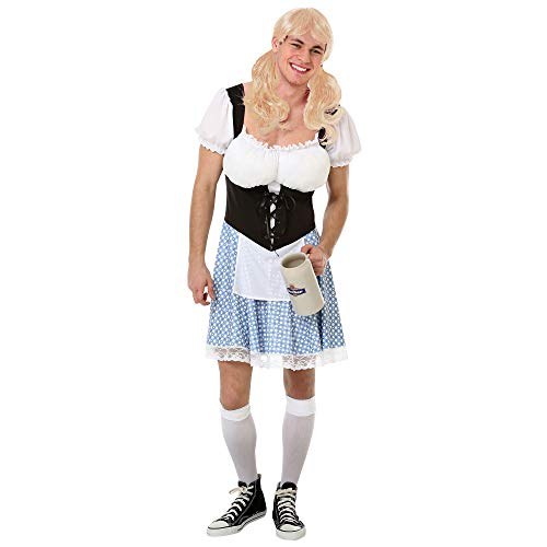 Boo Inc. Men's Busty Bavarian Halloween Costume | Funny Adult Dress (L)]()