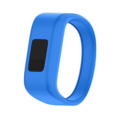 ANCOOL Compatible Garmin Vivofit JR Bands Replacement Silicone Sports Wristbands Compatible Garmin Vivofit JR/Vivofit JR 2/Vivofit 3(NOT Including Tracker) - Small Blue