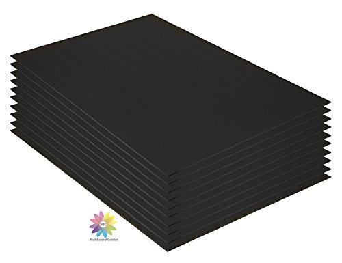 Mat Board Center, Pack of 10 3/16 BLACK Foam Core Backing Boards (16x20, Black) by MBC MAT BOARD CENTER