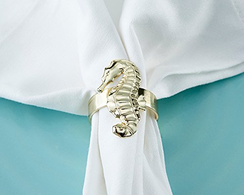 20 SETS of 4 Gold Seahorse Napkin Rings by Kate Aspen