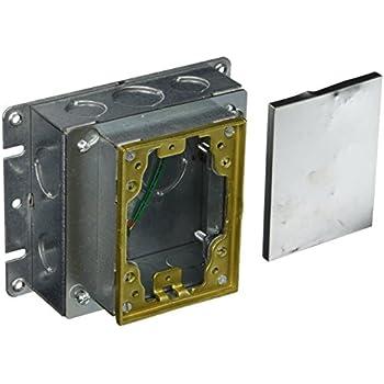 Hubbell B2421 Gang Rectangular Steel Floor Box Shallow