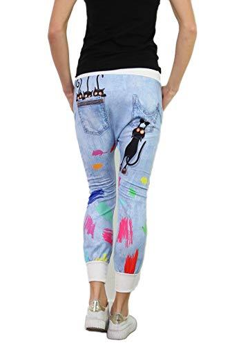 si moda Pantalón - Tiro Caído - para Mujer blanco