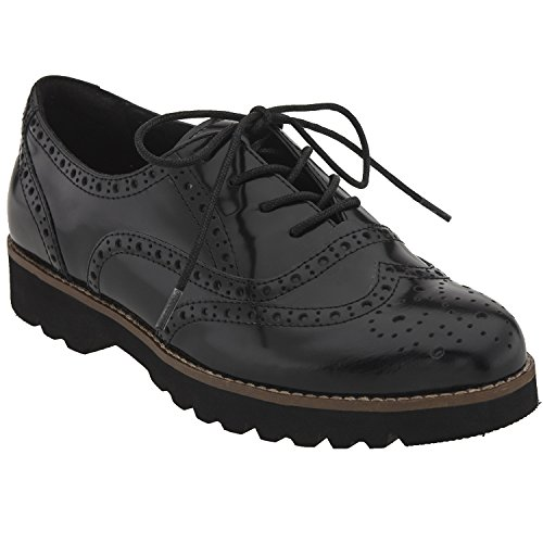 Earthies Women's Black Brush Off Leather Santana 9 Medium US by Earthies
