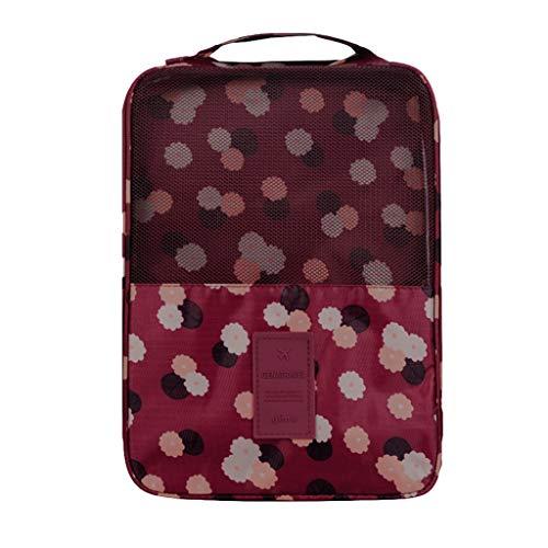 Ktyssp Travel Zipper Portable Pouch Shoe Tote Bag Laundry Storage Waterproof Shoe Bag (G)