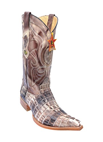 Tail 3X Western Leather Caiman Men's Savage Altos Los Genuine Toe Boots qS00gE