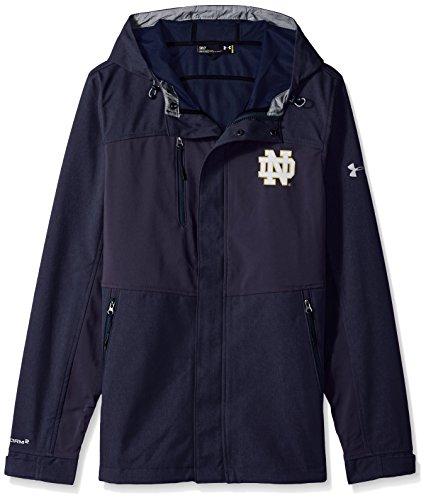 Under Armour NCAA Notre Dame Fighting Irish Mens NCAA Men's Softshell Jacket, Medium, Navy