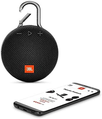 JBL CLIP 3 – Waterproof Portable Bluetooth Speaker – Black 412ZoM0kP4L