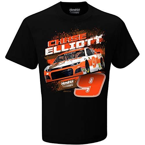 Checkered Flag 2019 NASCAR-Contender-Driver T-Shirt-100% Cotton-Chase Elliott #9-Hooters-XL