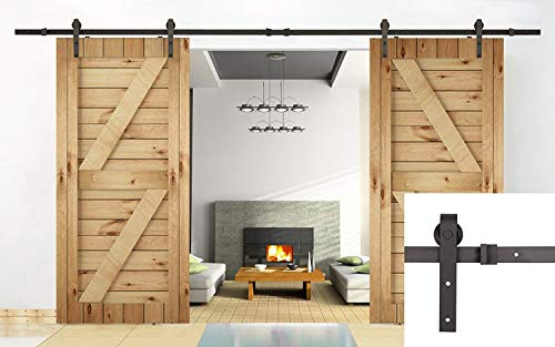 U-MAX 13 FT Double Door Sliding Track Barn Door Sliding Hardware (13 Ft Basic)