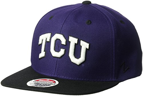 Tcu College Football (NCAA Tcu Horned Frogs Men's Z11 Snapback Hat, Adjustable Size, Team Color)