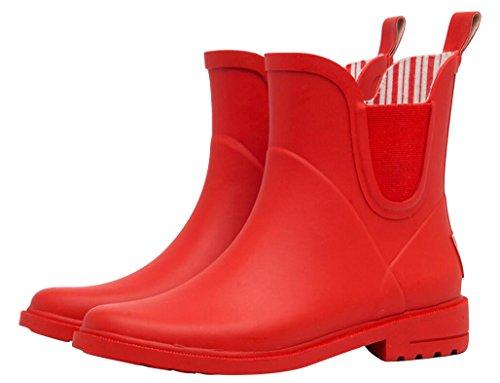 Footwear Red SHOCK Waterproof Antiskid Boots Rain Cute Women Rain top High ACE Casual vx4FWwaqxS