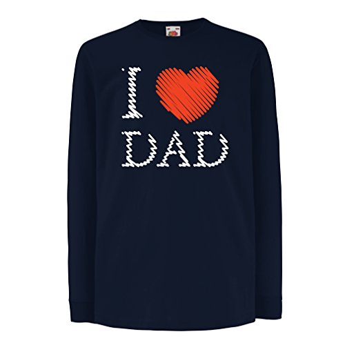 T-shirt for kids I Love My Dad - Father's Day gifts ideas for Husband Daddy Father (5-6 years Blue Multi (How To Dress As A Pirate)