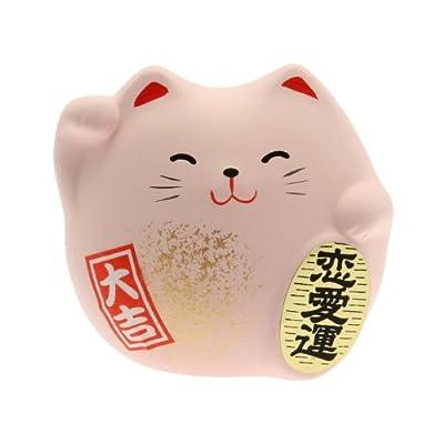 Kotobuki Maneki Neko Charm Renai-un Collectible Figurine, Love, Pink