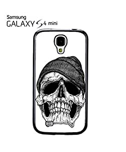 Skull with Beaine Retro Vintage Mobile Cell Phone Case Samsung Galaxy S4 Mini Black
