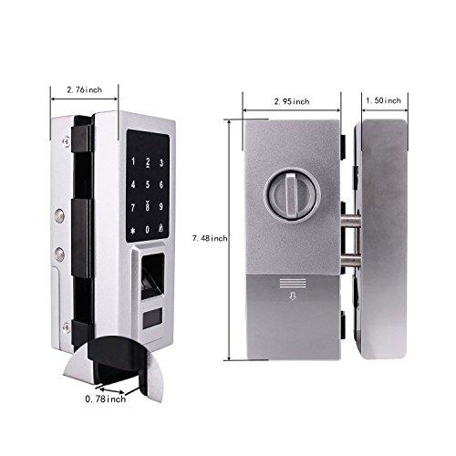 Security Biometric Fingerprint Door Lock for Glass Door, Free Punching,Supporting Double Open-Door and Single Open-door by Porlik (Image #1)
