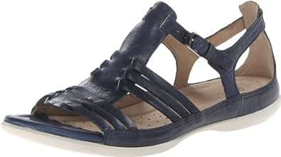 ECCO Women's Flash Hurache Dress Sandal,Denim Blue,37 EU/6-6.5 M US