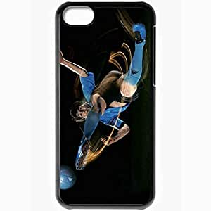 Personalized iPhone 5C Cell phone Case/Cover Skin Messi Lionel Messi Football Black
