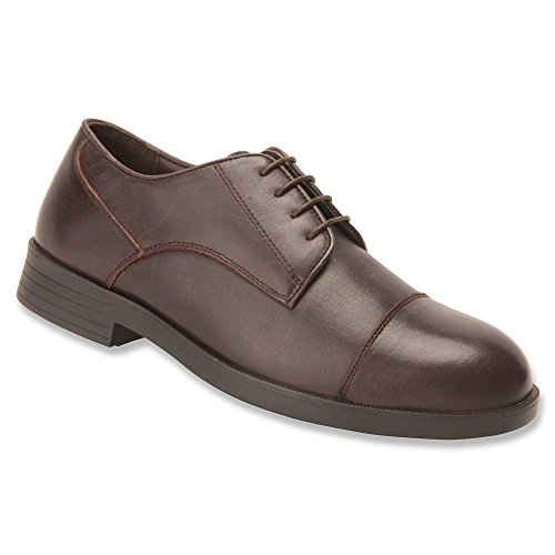 Dessiné Chaussure Hommes Cambridge Oxford, Marron, 8 (4w)