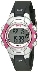 Timex Women's T5J151 1440 Sports Digital Black/Pink Resin Strap Watch
