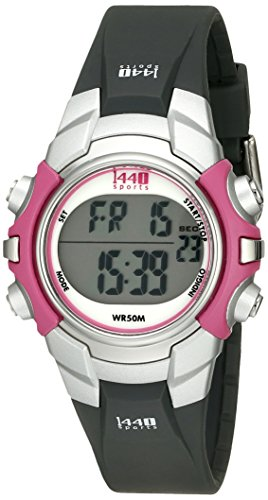 Timex Womens T5J151 1440 Sports Digital BlackPink Resin Strap Watch