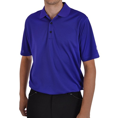 Climalite Jersey Polo Shirts (adidas Golf Men's Climalite Solid Jersey Polo, Bluebonnet/White, X-Large)