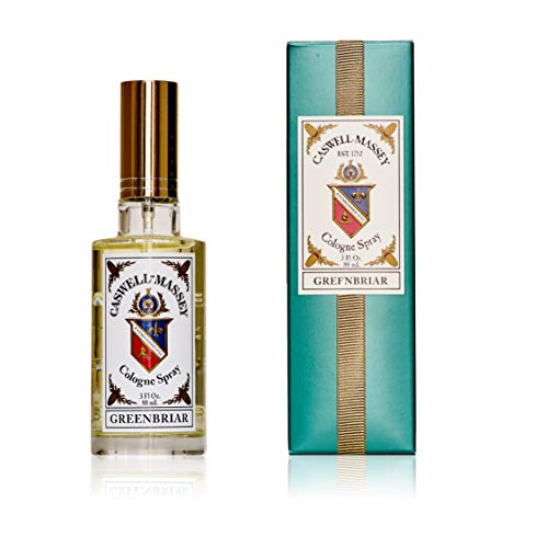 Caswell-Massey Greenbriar Cologne Spray - Natural Blend of Sage, Patchouli, Mandarin and Vetiver - 3 Ounces