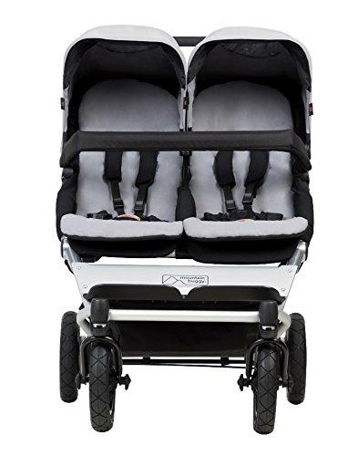 silber 2 Babyschalen Mountain Buggy duet buggy V3 als Doppelsitz-Buggy
