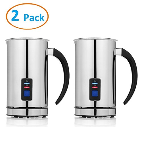 Chef's Star (2 Pack) Premier Automatic Milk Frother, Heater and Cappuccino Maker