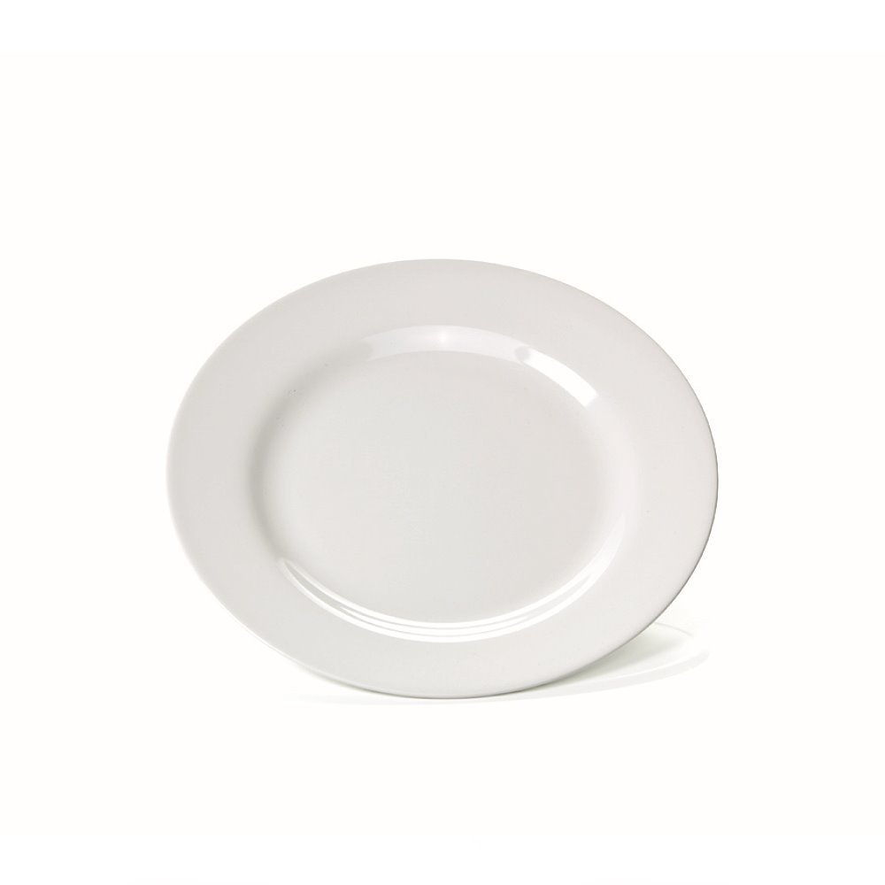flach 6X Teller 18,5 x 18,5 cm Material Melamin Farbe weiß viereckig