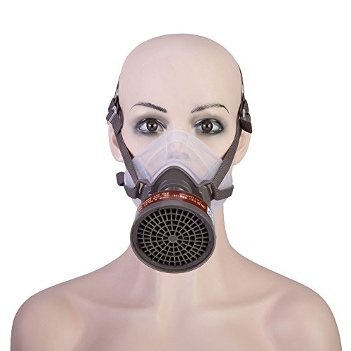 Joyutoy Half Facepiece Reusable Respirator Industrial Gas Chemical Anti-Dust Paint and Pesticide Respirator Mask with Adjustable Straps