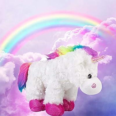WEUPE Unicorn Stuffed Animal, Unicorn Plush, Stuffed Unicorn, Rainbow Horse Toys, Pink Pony, Fluffy Soft Cute Unicorn, Pillow for Kids, Girls and Boys, 10 Inc Size: Toys & Games