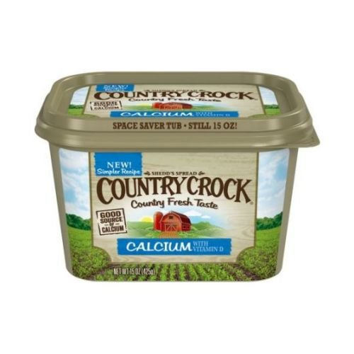 Country Crock Calcium Plus Vitamin D Vegetable Oil Spread, 15 Ounce - 12 per ()