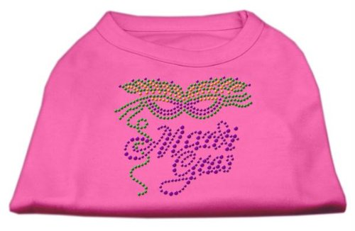 Mirage Pet Products Mardi Gras Rhinestud Shirt, Small, Bright Pink from Mirage Pet Products