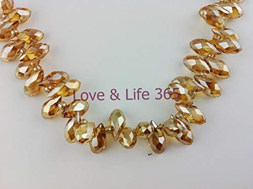 Crystal Pendants | Briolette/Gold Teardrop 100pcs/lot 612mm