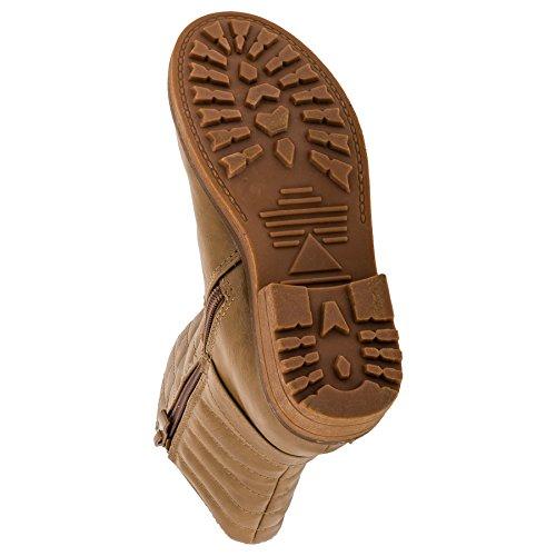 Jili Gefütterte Mädchen Boots Stiefel mit Reißverschluss in 4 Farben #249be Beige