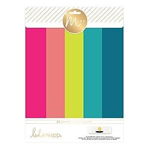 American Crafts 313641 Heidi Swapp Minc Paper 20Piece Brights Paper Pack