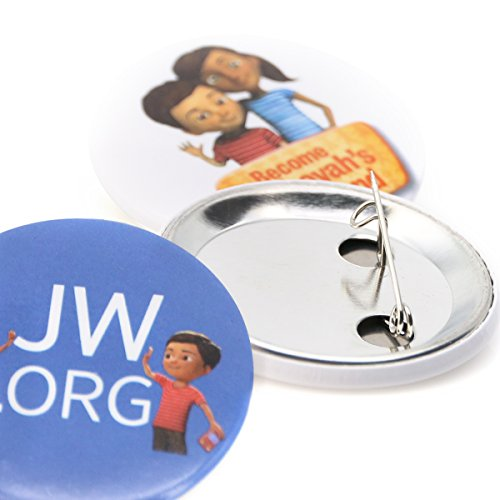 Mixed JW.ORG Buttons Jehovah's Witnesses Button Perfect Present for Jw.org Sophia Caleb Buttons 40 Pack